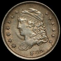 1835 U.S. CAPPED BUST HALF DIME 5 CENTS SILVER COIN   NICE Q
