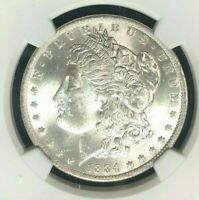 1884-O/O VAM 10 NGC MINT STATE 63 MORGAN SILVER DOLLAR  GENE L. HENRY LEGACY COLLECTION