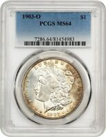1903-O $1 PCGS MINT STATE 64 - LOW MINTAGE DATE - MORGAN SILVER DOLLAR - LOW MINTAGE DATE