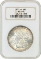 1879-O $1 NGC MINT STATE 63 OH OLD NGC HOLDER - MORGAN SILVER DOLLAR - OLD NGC HOLDER