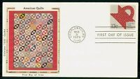 US FDC 1978 COLORANO SILK AMERICAN QUILTS FOLK ART FIRST DAY
