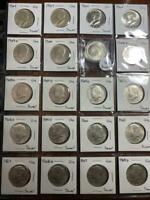 LOT OF 20 SILVER GEM UNCIRCULATED PROOF KENNEDY HALF DOLLARS