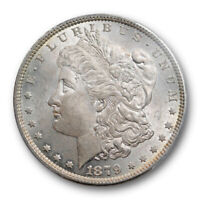 1879 $1 MORGAN DOLLAR PCGS MINT STATE 64 UNCIRCULATED BETTER DATE LIGHTLY TONED ORIGINAL