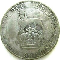 GREAT BRITAIN UK COINS ONE SHILLING 1926 GEORGE V SILVER 0.5