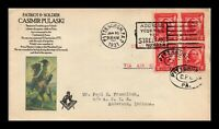 DR JIM STAMPS US GENERAL PULASKI FDC MASONIC COVER SCOTT 690