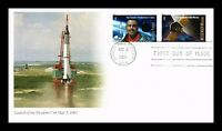 DR JIM STAMPS US FREEDOM 7 LAUNCH SPACE COMBO FOREVER STAMPS