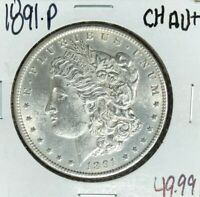 1891-P MORGAN SILVER DOLLAR  CH/AU  COIN
