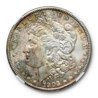 1903 O $1 MORGAN DOLLAR NGC MINT STATE 64 UNCIRCULATED TONED CAC APPROVED ORIGINAL