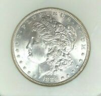 1886 MORGAN SILVER DOLLAR - NGC MINT STATE 65 VAM IE2 R-6 BEAUTIFUL COIN REF006