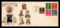 DR JIM STAMPS US ADAMS FAMOUS AMERICANS FDC PHOTO CACHET COV