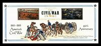 DR JIM STAMPS US CIVIL WAR COMBO HAND COLORED FDC UNSEALED L
