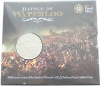 2015 ROYAL MINT BATTLE OF WATERLOO BU 5 FIVE POUND COIN PACK
