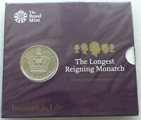 2015 LONGEST REIGNING MONARCH BU 5 FIVE POUND COIN PACK SEAL