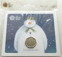 2019 ROYAL MINT THE SNOWMAN BU 50P FIFTY PENCE COIN PACK SEA