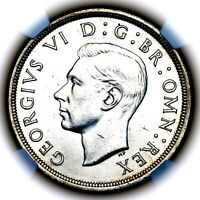1937 KING GEORGE VI GREAT BRITAIN SILVER CROWN NGC MS63
