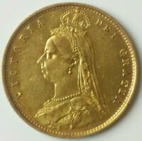 1887 GREAT BRITAIN GOLD VICTORIA JUBILEE HALF SOVEREIGN