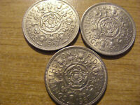 A COLLECTION OF 3 X FLORIN TWO SHILLINGS COINS   ALL LOOK UN