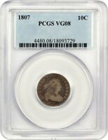 1807 10C PCGS VG-08 - AFFORDABLE TYPE COIN - BUST DIME - AFFORDABLE TYPE COIN