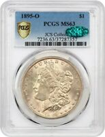 1895-O $1 PCGS/CAC MINT STATE 63 - KEY DATE FROM NEW ORLEANS - MORGAN SILVER DOLLAR
