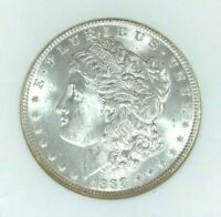 1888 MORGAN SILVER DOLLAR - OLD NGC MINT STATE 64 BEAUTIFUL COIN REF33-026