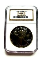 1991 AMERICAN SILVER EAGLE NGC MINT STATE 68