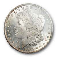 1885 CC $1 MORGAN DOLLAR PCGS MINT STATE 64 UNCIRCULATED LUSTROUS  LOOKS BETTER