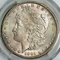 1885 CC PCGS MINT STATE 63 MORGAN SILVER DOLLAR ITEMT12284