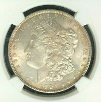 1904-O MORGAN SILVER DOLLAR - NGC MINT STATE 63 BEAUTIFUL COIN  REF36-012