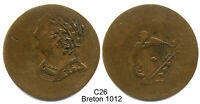BLACKSMITH TOKEN CHARLTON BL 35A2   BUST & HARP   STRONGLY S