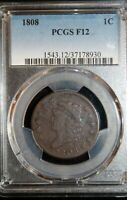 1808 CLASSIC HEAD LARGE CENT : PCGS F12