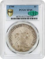 1799 $1 PCGS/CAC EXTRA FINE 45 - GREAT BUST DOLLAR TYPE COIN - BUST SILVER DOLLAR