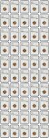 LOT OF 1954-D 1C NGC MINT STATE 66 RD 50 COINS TOTAL - LINCOLN CENT