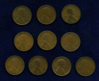 U.S. LINCOLN SMALL CENTS: 1915, 1915-D, 1916, 1916-D, 1916-S, 1917, 1917-S, 1918