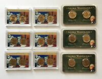 2007-P-D  WASHINGTON PRESIDENTIAL DOLLAR COIN SETS, GROUP LOT OF 9 SETS