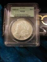 1883-O MORGAN SILVER DOLLAR VAM 22A PARTIAL E ON REVERSE PCGS MINT STATE 64 OLD HOLDER