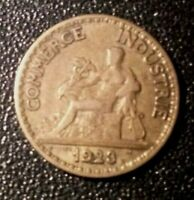 1923 FRANCE 50 CENTIMES COIN