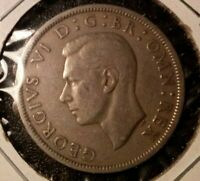 1948 GREAT BRITAIN HALF-CROWN COIN FEATURING KING GEORGE VI