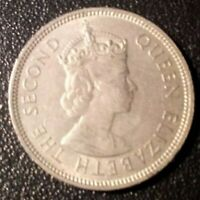 1961 BRITISH HONG KONG FIFTY CENTS COIN FEATURING QUEEN ELIZABETH II