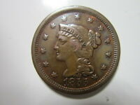 LARGE CENT 1855  UPRIGHT 5'S