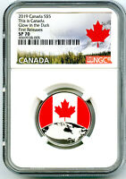2019 $5 THIS IS CANADA .9999 SILVER NGC SP70 GLOW IN THE DAR
