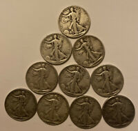 1930 S & 1940 S WALKING LIBERTY 10 COIN LOT. 90  SILVER . 5