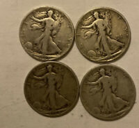 3 1927S & 1928S WALKING LIBERTY HALF DOLLARS  4 COIN LOT.