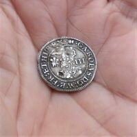 HAMMERED CHARLES I ABERYSTWYTH MINT SILVER THREEPENCE. WALES