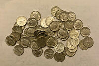 1964 ROOSEVELT DIMES 1 ROLL 50 COIN LOT. ALL 90  SILVER.