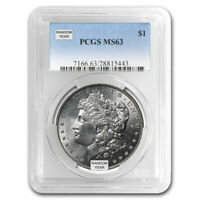 1878-1904 MORGAN SILVER DOLLARS MINT STATE 63 - PROFESSIONALLY GRADED PCGS