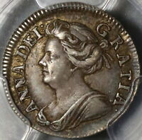 1708 PCGS XF 45 ANNE 2 PENCE GREAT BRITAIN SILVER 1/2 GROAT COIN  20101901C