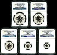 2013 CANADA SILVER MAPLE LEAF NGC PF70 REVERSE PROOF 25TH AN