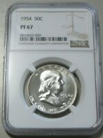 1954 FRANKLIN PROOF NGC 67