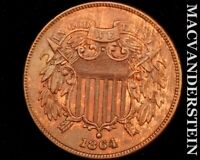1864 TWO CENT PIECE ALMOST UNCIRCULATED  LUSTER U4339