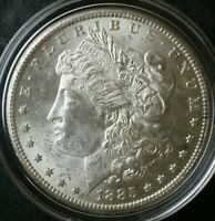 1885 CC $1 MORGAN SILVER DOLLAR IN A CAPSULE